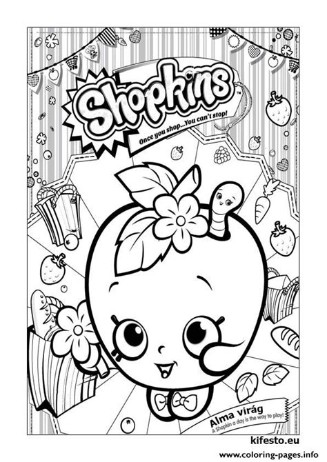 Shopkins Kifesto 003 Coloring Pages Printable