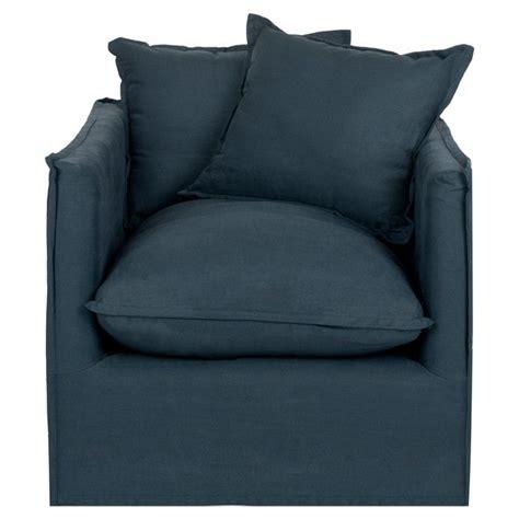 navy armchair navy linen arm chair