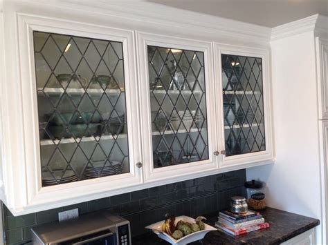 25  best ideas about Leaded glass cabinets on Pinterest