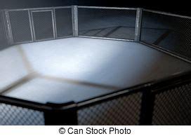 lotta in gabbia mma gabbia arena mma render vestito isolato lotta