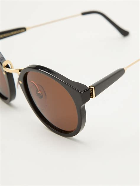 S Retro Sunglasses Black lyst retrosuperfuture frame sunglasses in black