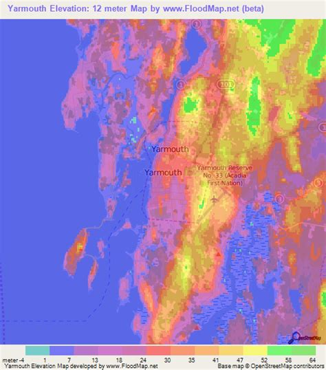 elevation map of usa and canada elevation of yarmouth canada elevation map topography