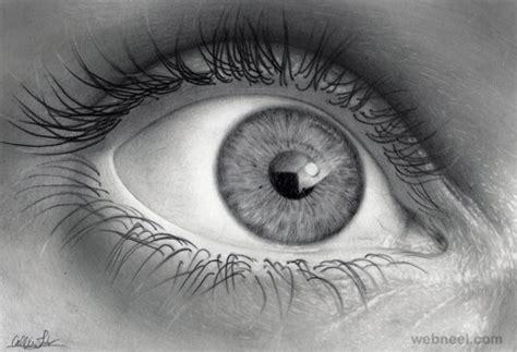 eye pencil drawing  full image