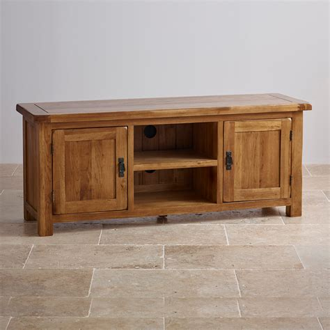 Oak Furniture Sofas by Original Rustic Wide Tv Cabinet In Solid Oak Oak