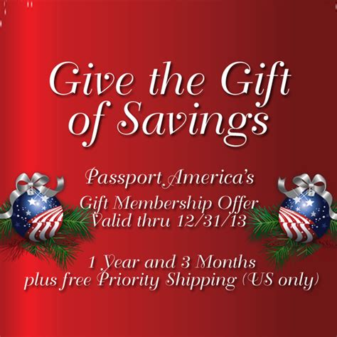 Americans Give And A Pass by Passport America Site Seers Give The Gift Of Savings