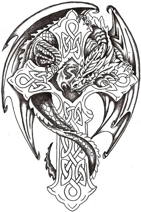 celtic dragon tattoo designs for men best 25 celtic tattoos ideas on celtic