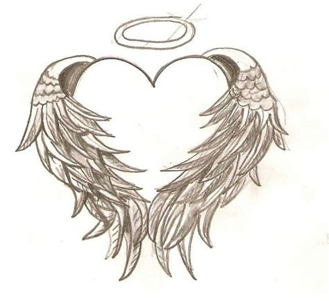 angel wings with halo tattoo designs wings with halo tattoos halo