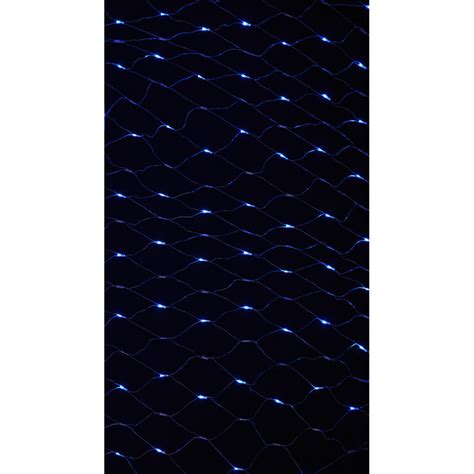 180 bulb multi action blue led net light indoor and