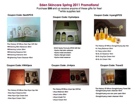 Sulwhasoo Set Promo sulwhasoo and the history of whoo skin care april 2011