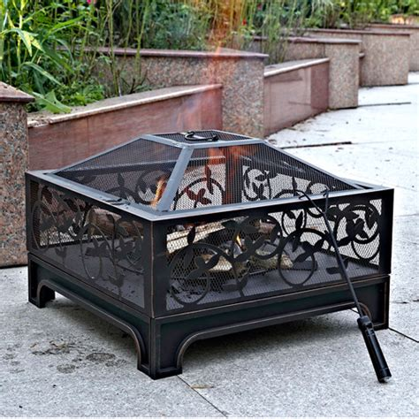 Montreux 26 Quot Square Steel Fire Pit 62 05 Steel Firepits