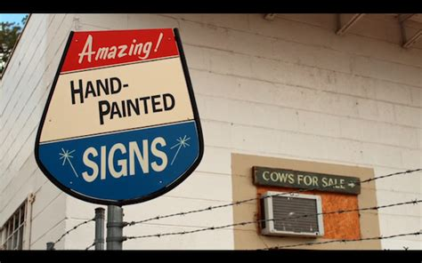 house industries sign painter the revival of americas hand painted sign industry the a