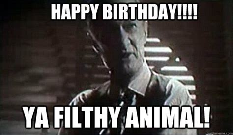 happy birthday ya filthy animal home  quickmeme funny merry christmas memes