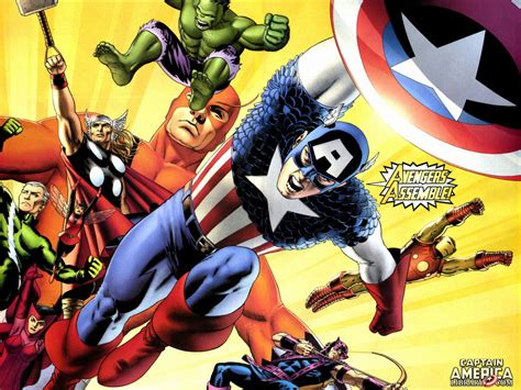 classic marvel wallpaper my free wallpapers comics wallpaper classic avengers