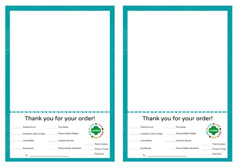 Scout Cookie Thank You Card Template by Cookies Troop 209