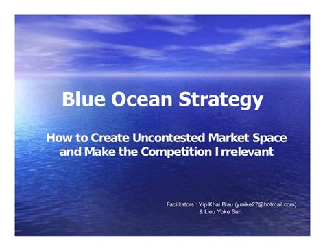 Blue Ocean Strategy Summary And Exles Blue Strategy Powerpoint