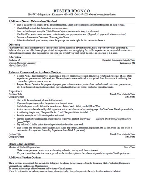 general resume template sle resume general helper easy writing software