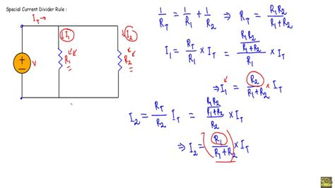 resistance voltage divider formula current divider rule theory and numerical exle