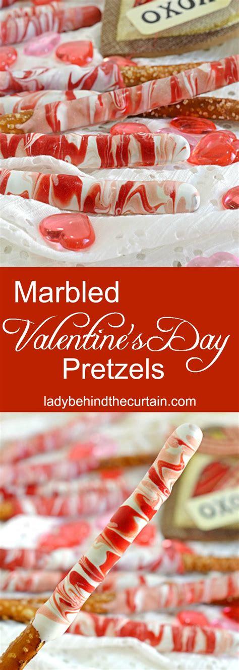 valentines day pretzels marbled s day pretzels