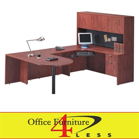 Office Desk Stores C Bullet U Desk 71x36 Bullet U Shape Desk With Hutch Office Furniture 4 Lessoffice Furniture