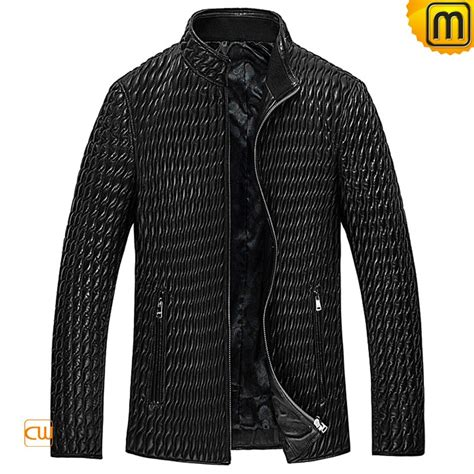 Mens Quilted Leather Jacket by Genuine Quilted Leather Jacket Mens Cw850009