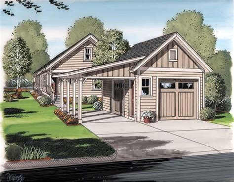 bungalow cottage craftsman garage plan 30505