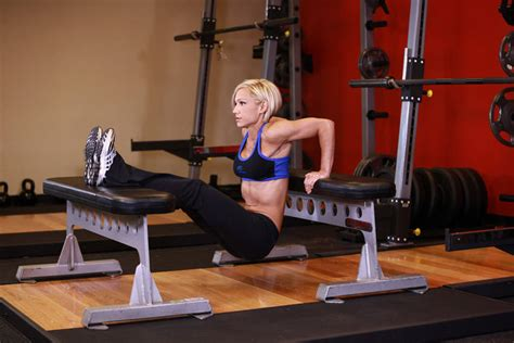 dips on bench bench dips exercise guide and video