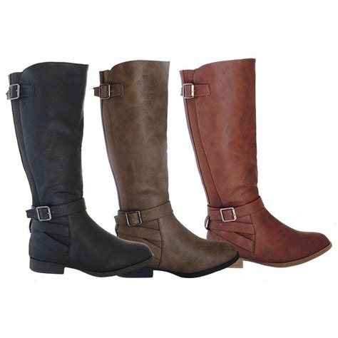 stylish boots womens boots knee high fashion flat stylish faux