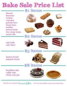 bake sale price list jpg bake sale ideas pinterest bake sale