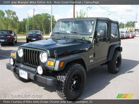 Jeep Willys Edition Moss Green Pearlcoat 2005 Jeep Wrangler Willys Edition