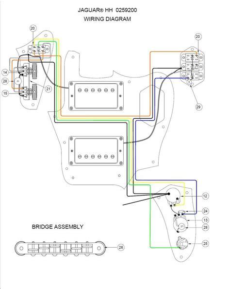 fender jaguar humbucker wiring diagram wiring diagram