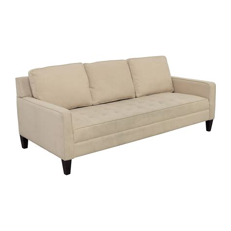 Single Cushion Sofa by 82 White Tufted Single Cushion Sofa Sofas