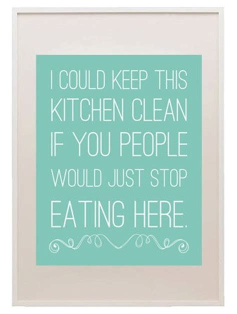 keep kitchen clean i could keep this kitchen clean if you people would just