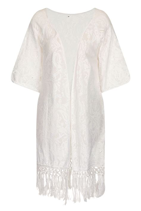 Kaftan Cardigan womens open kaftan crochet cardigan cover up fringe kimono