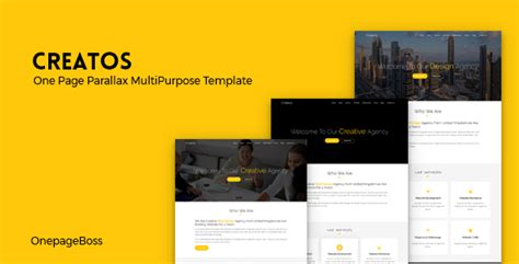 creatos one page parallax premium template download