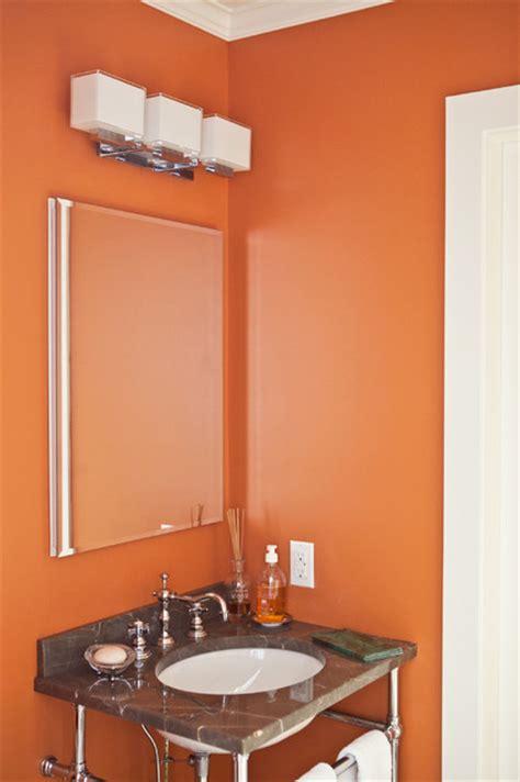 orange powder room traditional powder room new york by debra kling colour consultant