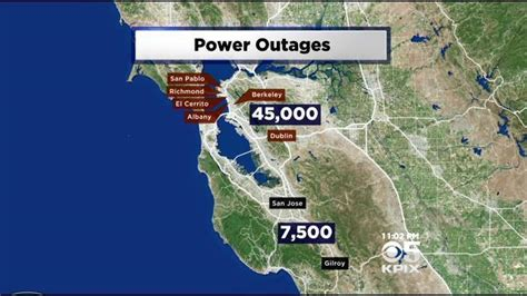 san jose power outage map pg e still trying to explain how squirrel managed to cause