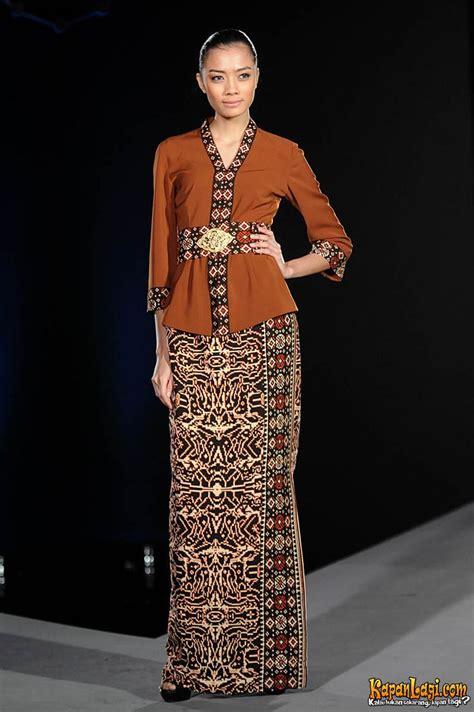 kebaya  tenun indonesia pakaian elegan pakaian