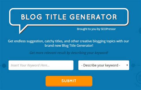 political biography title generator 7 life saving tools to help you generate more blog titles