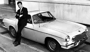 Roger Volvo P1800 Roger With His Volvo P1800 Sports Car Volvo