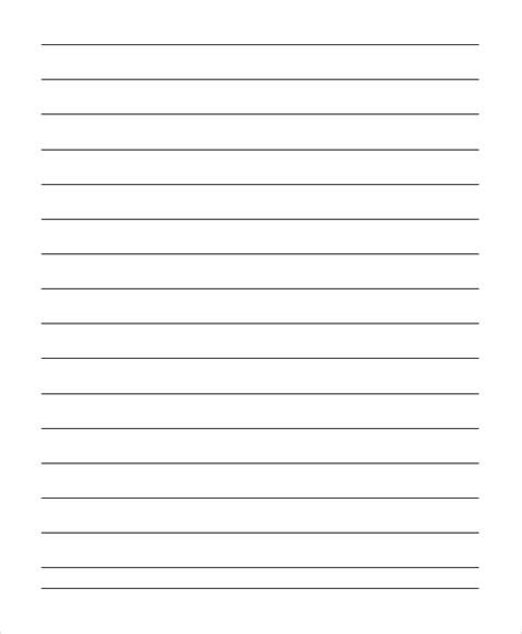 printable lined numbered paper kindergarten lined paper style lined paper for