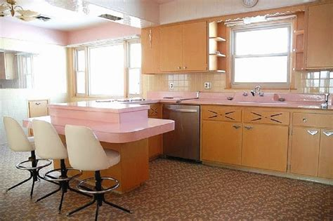 Pink Kitchen Countertops by Vintage Kitchen With Pink Counter Tops Vintage House