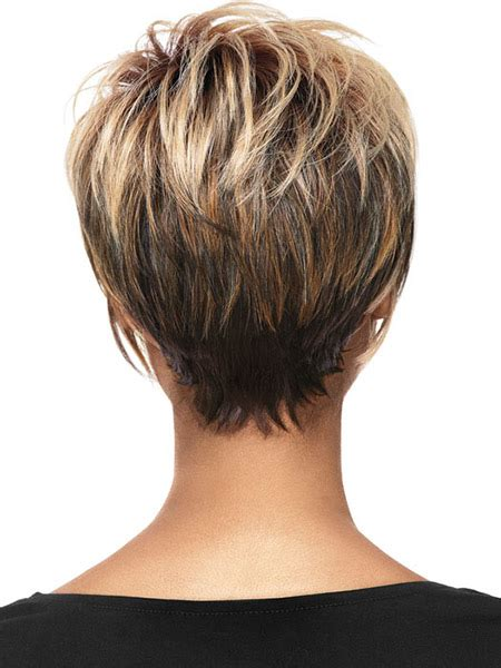 hairstyles that have long whisps in back and short in the front blonde zur dunkel kurzhaarfrisur