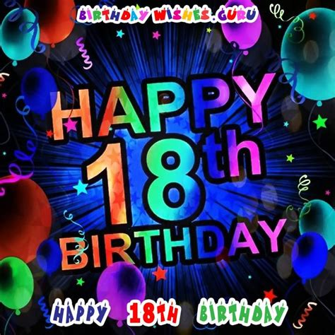 Happy Birthday Quotes 18 Year Happy 18th Birthday Birthday Wishes For An 18 Year Old