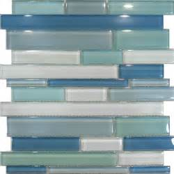 Blue Glass Tile Kitchen Backsplash Sample Blue Random Linear Glass Mosaic Tile Kitchen