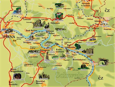 Feuerstellen Karte by Sehensw 252 Rdigkeiten S 228 Chsische Schweiz Karte Schottland Karte