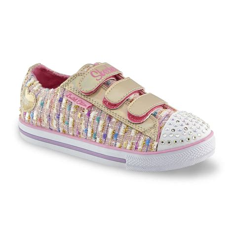 girls light up tennis shoes skechers s twinkle toes pink light up athletic shoe