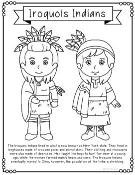 iroquois page coloring pages