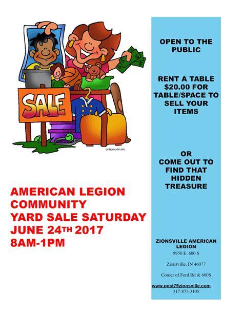 Garage Sales Zionsville Post 79 Yard Sale Zionsville Post 79