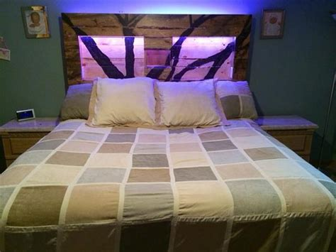 king size headboard with lights recycled pallet headboard with lights recycled things