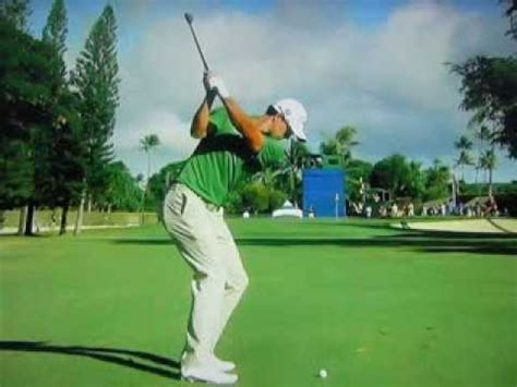 adam scott swing face on adam scott 130 yard wedge ultra slow motion youtube
